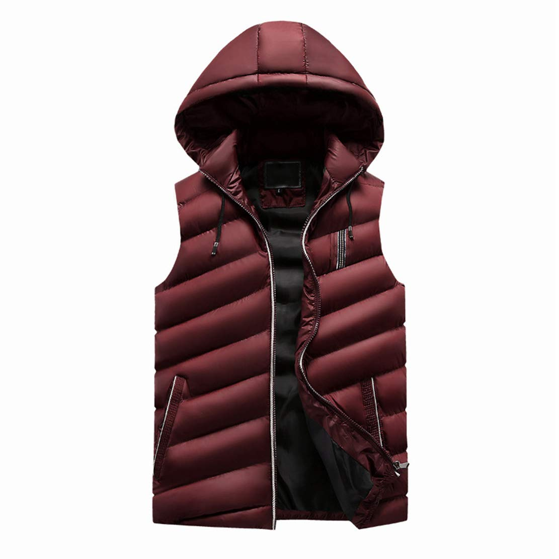 Men's down hooded vest jacket men's plus velvet vest cotton jacket exquisite and delicate edging comfortable and stylish