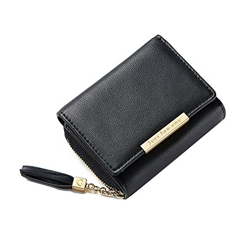 Card held Hand Color Fashion S Purse Tassel Bag Simple Black Size Black Women's New Wallet Buckle Mini EtqRXwC