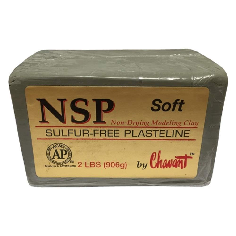 Chavant NSP SOFT - 2 Lbs. Professional Oil Based Sulfur Free Sculpting Clay - GREEN by Chavant B015NF5W54