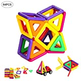 Best Learning Toys For 4 Year Old Boys - 64 Pcs Magnetic Building Blocks Set for Kids Review