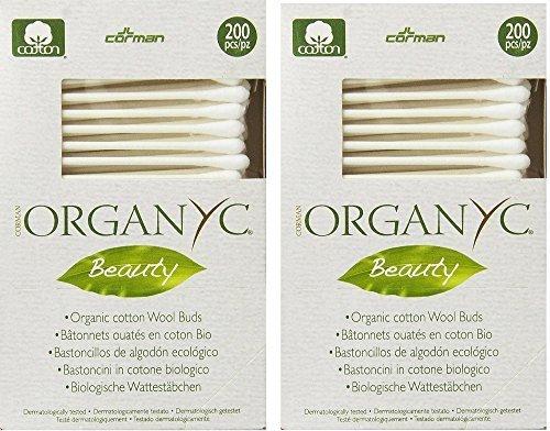 ORGANYC Organic Cotton Swabs, 200 ea - 2pc ()