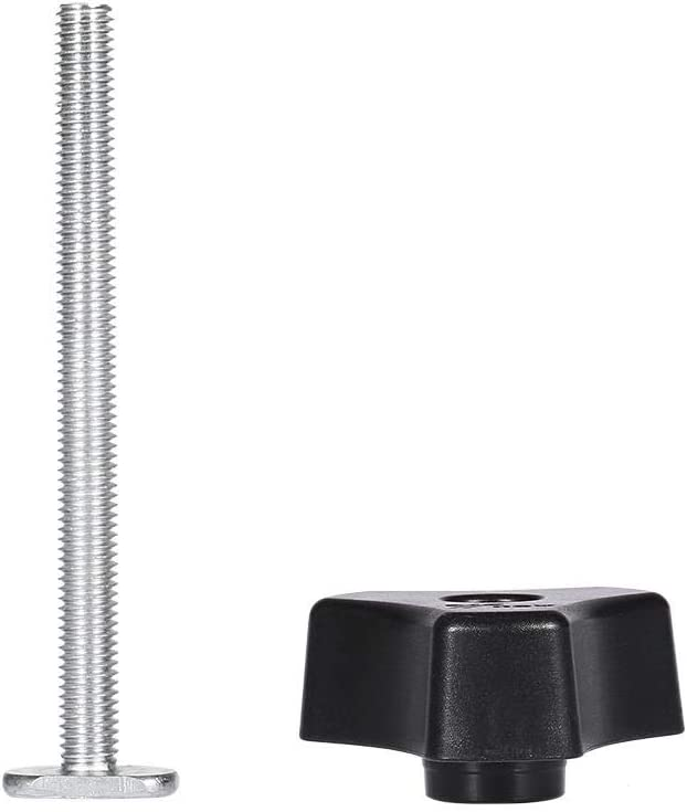 KSTE M8 T-Fente Rapide Pince Specification : Whole Set T-Track de Maintien Clamp Outil de Travail des m/étaux Travail du Bois for Le Travail de Maintien de positionnement Fixturing