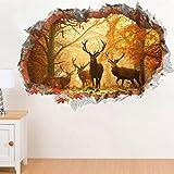 DaGou 3D Deer Wall Sticker North Europe Style Wall Decor