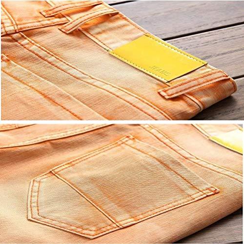 Lavato Arancia Rette Denim Classiche Orifizi Jeans Essentials Retrò Pantaloni Cher Gamba Ragazzi Casuale Uomini fwRqOzSx