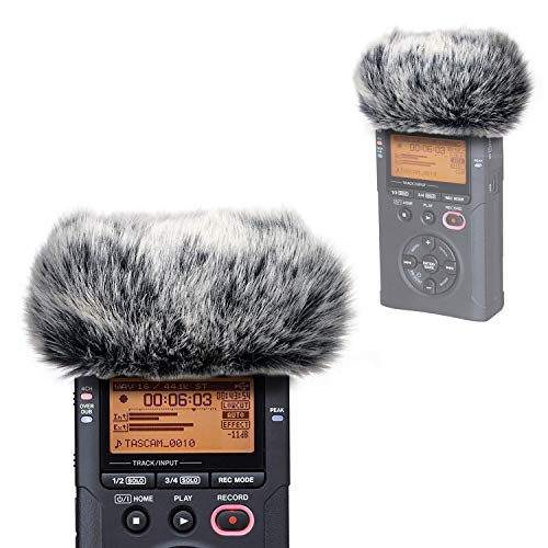 DR40 Windscreen Muff for Tascam DR-40 Portable Recorders, DR40 Mic Dead Cat Fur Windshield Windscreen Wind Screen by YOUSHARES ()