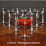 Box of 200 - 4 ounce Disposable Plastic Champagne Glasses