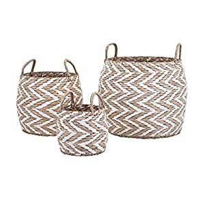 Imax 85875 3 laci woven baskets set of 3 tan for Laci kitchen set