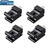 #6: Black Metal Cold Shoe Flash Stand Adapter Speedlight Holder Hot Shoe Mount with 1/4-inch -20 Tripod Screw (4 Packs)