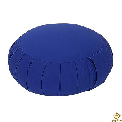 cojín de meditación/cojín zafu Yoga Made in Germany, Azul ...