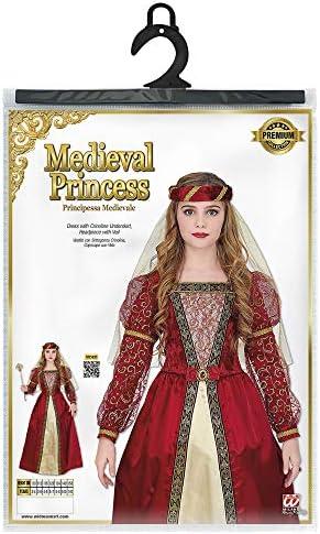 WIDMANN 07336 Kinderkost/üm Mittelalter Prinzessin M/ädchen Rot Gold 128