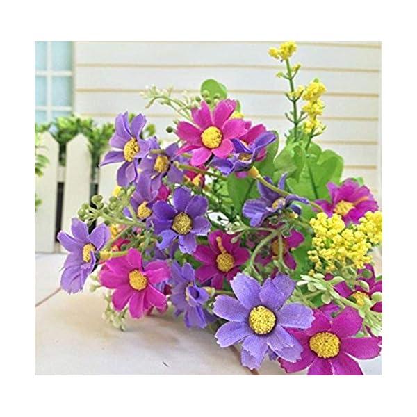 MARJON FlowersPack of 6PCS Light Purple Color Silk Flowers Artificial Silk Daisy Flower Bunch Home Garden Party Floral Decor