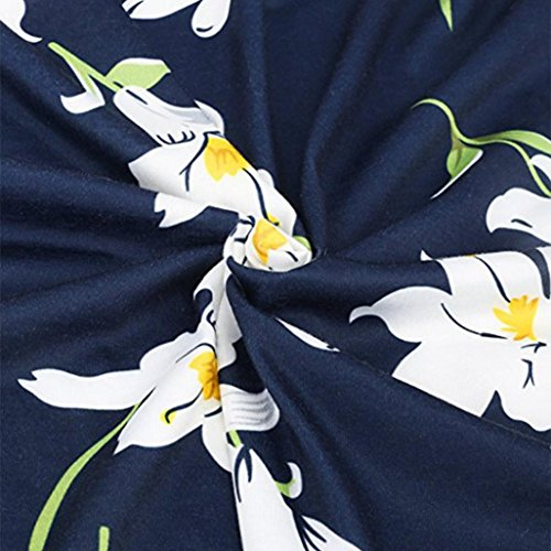Summer Womens manches robe dcontracte ALISIAM Floral Imprimer Beach Marine sans f5WxxdgqU