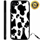 Custom iPhone 7 Case (Cow Print) Edge-to-Edge Rubber Black Cover with Shock and Scratch Protection   Lightweight, Ultra-Slim   Includes Stylus Pen by Innosub