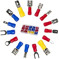 cable Terminals,Crimp electrical connectors insulated Spade Set,color Red Yellow Blue 280Pcs Eagles new brand,for 16 types 22-10 AWG US and EU standard Copper PVC Tinplate
