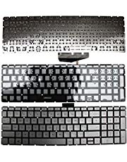 Keyboards4Laptops UK Layout with Pointer Grey Frame Backlit Grey Windows 8 Replacement Laptop Keyboard Compatible with HP Home 15-bs059nb