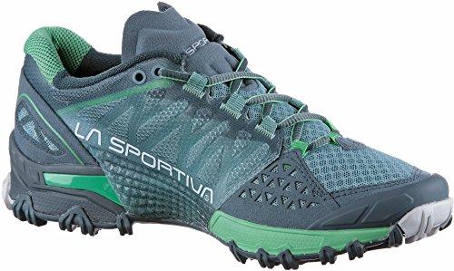 La Spartiate Mutant Chaussures De Course De Trail Femmes - Ss18 Bushido Femme Ardoise / Jade Vert Talla: 38