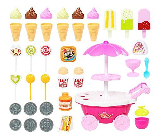 30 Pièces Snacks Simulation Enfants Vendre Barrow Car Toys
