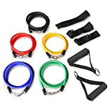 Gonex Resistance Bands with 5 anti-snap exercise tubes, Fitness Home Gyms Heavy Duty components