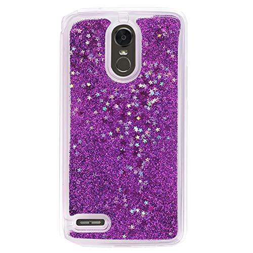 Girl Glitter Liquid Case for LG Stylo 3 2017 LS775 4 Plus Aristo 2 X210 K10 Cover Shiny Sequin Bling Phone Cases,Purple,for LG LS775 (Gta Iv Best Cheats)