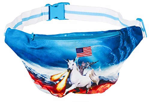 Funny Guy Mugs Space Cat Fanny Pack - Unicorn -