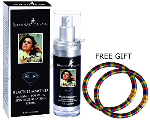 Shahnaz Husain Black Diamond Advance Formula Skin Regenerating Serum - 40ml - via DHL Express - Delivery in 3-7 days and FREE GIFT (Pair of Multicolor Bangles)