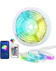 Wolii Smart LED Light Strips,Bluetooth Color Changing LED Lights with APP &Remote Control,Music Sync RGB Lights for Bedroom, Kitchen, TV, Party