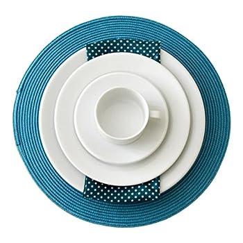 Image of Calvin Klein Eternity Storm White 68 Piece Dinner Service, Porcelain 55 x 50 x 50 cm Dinnerware Sets