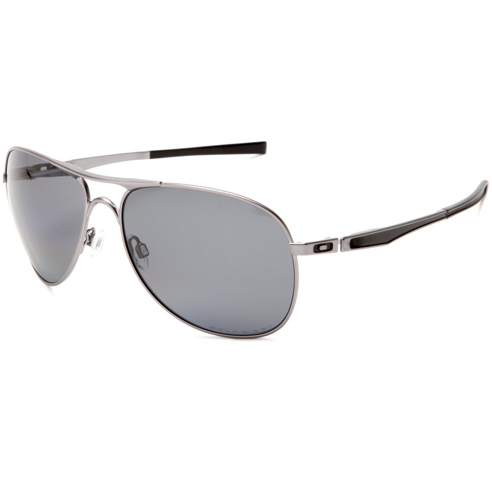 75a4833aa9 Amazon.com  Oakley Plaintiff Men s Polarized Sunglasses - Lead Grey   Clothing
