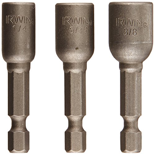 Irwin Tools 3545973C Magnetic Nutsetters 1-7/8-Inch, 3 Piece (3 Piece Nutsetter Set)
