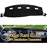 Dashboard Cover Dash Cover Mat Custom Fit for Dodge Ram 1500 2002-2005,2500/3500 2003-2005 (Ram 02-05, Black) Y22