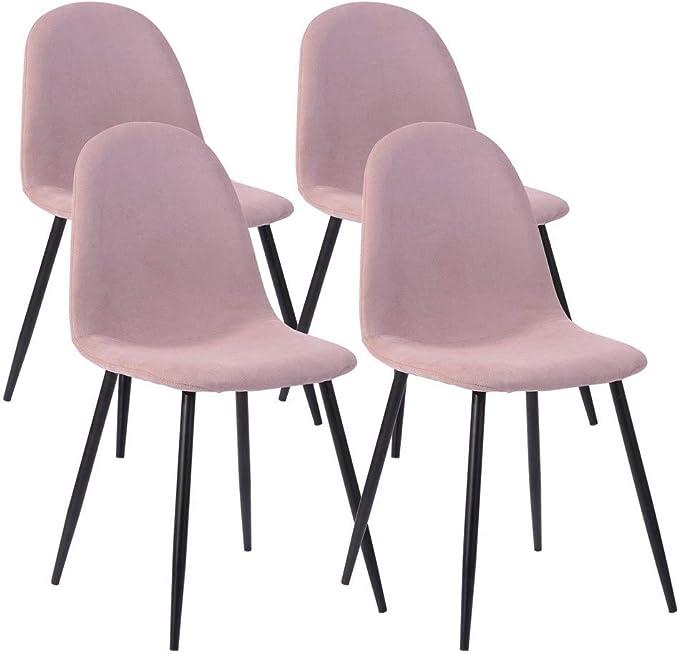 Lot de 4 Chaises de style Scandinave avec une assise et