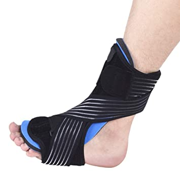af799a923664 VORCOOL Plantar Fasciitis Dorsal Night and Day Splint Foot Orthosis  Stabilizer Adjustable Drop Foot Orthotic Brace Support Pain Relief Black:  Amazon.in: ...