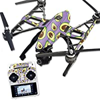 MightySkins Protective Vinyl Skin Decal for Yuneec Q500 & Q500+ Quadcopter Drone wrap cover sticker skins Purple Avocados