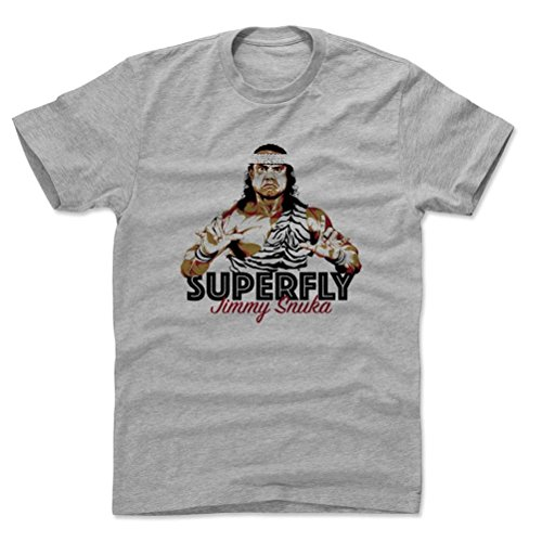 500 Level Jimmy Snuka Cotton T Shirt Xxxl Heather Gray   Jimmy Snuka Superfly D   Officially Licensed By Pro Wrestling Tees