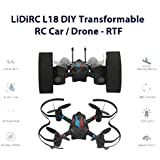 Celendi Crazy LIDIRC L18 Drone, 2.4G 6CH 6-Axis Mini RC Gyro Air Force Aircraft Without Camera