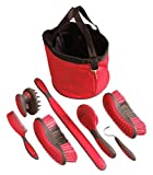Tough 1 Great Grip Grooming Package (8-Piece), Red