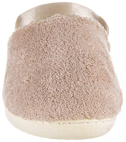 Isotoner Micro-badstof Satijnen Manchet Voor Vrouwen Met Versteviging, Satijnen Cuff Taupe
