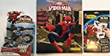 Marvel Ultimate Spider-Man Web-Warriors Blast N Go + Colorforms Fun Reusable Sticker Pack + Ultimate Spider-man Sticker Album-3 PC Bundle
