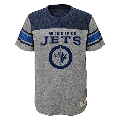 - Outerstuff NHL Winnipeg Jets Youth Boys Heritage Short Sleeve Tee, Small(4), Heather Grey