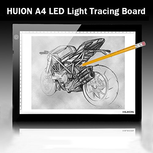(HUION A4 LED Light Box UltraThin Drawing Tracing Sketch Table Board)