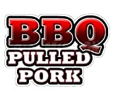 BBQ PULLED PORK Concession Decal barbeque sign trailer