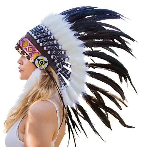 (Novum Crafts Feather Headdress | Native American Indian Inspired |)