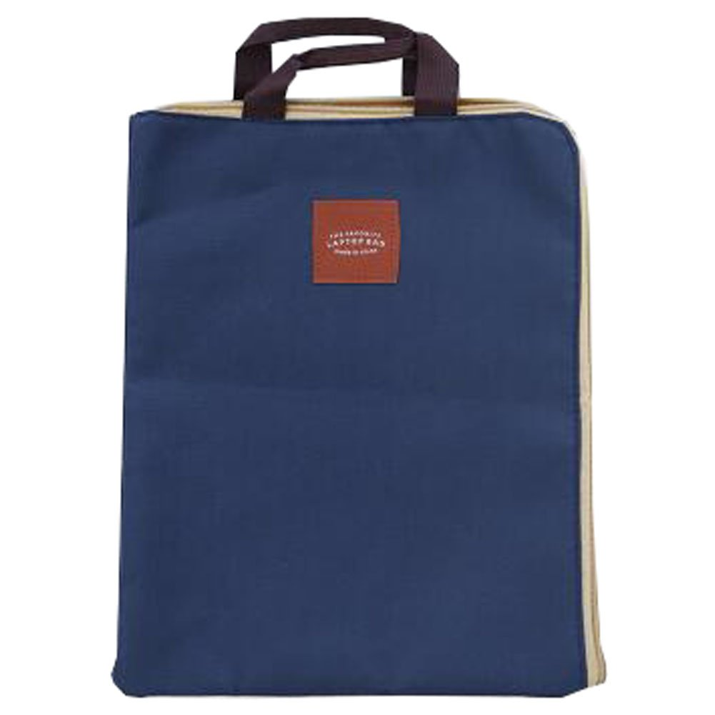 Cute File Bag Stationery Bag Pouch File Envelope for Office/School Supplies, Handbag Dark Blue
