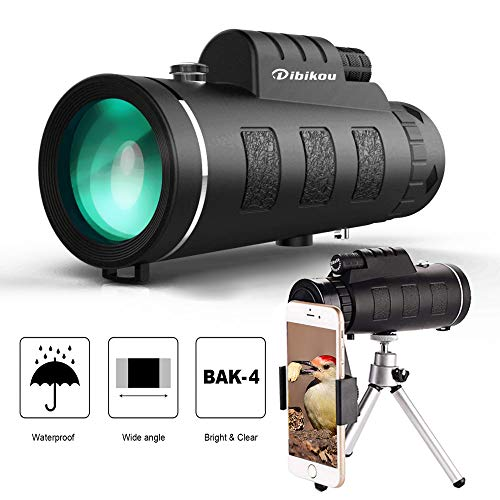 Monocular Telescopes Spotting Scope 40×60 Monocular Telescope HD Dual Focus Scope Waterproof Compact Monocular with BAK4 Zoom Lens Low Night Vision for Hunting Bird Watching Camping Outdoor Sporting