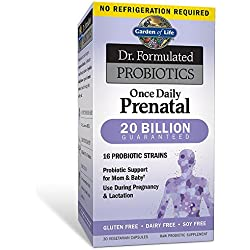 Garden of Life Prenatal Probiotic for Women - Dr. Formulated Once Daily Prenatal for Digestive and Gut Health, Shelf Stable, 30 Capsules