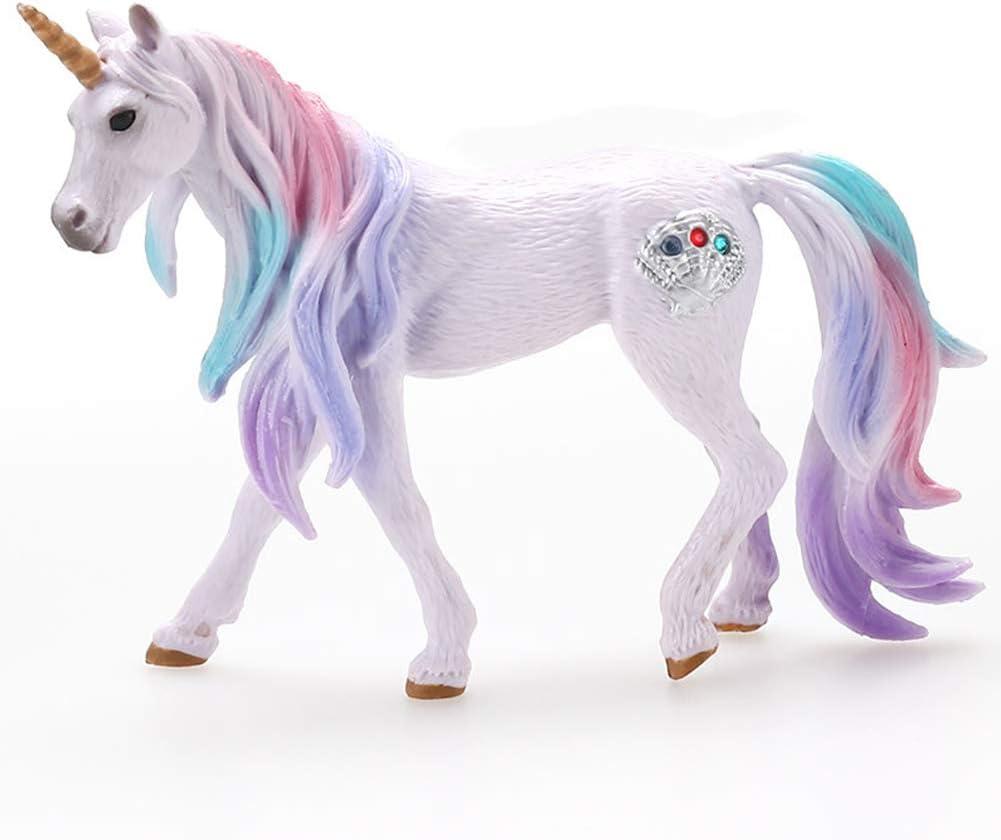 BESLIME Juguete para Niños Potro Unicornio, Potro de Unicornio Marino, para Que Jueguen Los Niños, Decoración de Pasteles, Seguro y Respetuoso con el Medio Ambiente