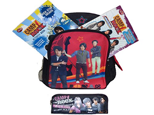 New Jonas Brothers Large Backpack Pencil case and Activity Books (Brothers Rock Jonas)