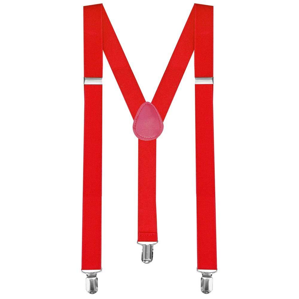 Y-back bretella bretelle regolabili Pantaloni Bambino Uomo Donna completamente elastico Rosso tumundo