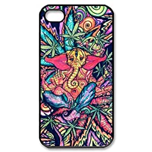 Generic Funny Trippy Elephant Hard Snap-on Covers for iPhone 4/4s