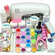 Nail Dryer 9w Uv Dryer Lamp 24 Colors Acrylic Powder Nail Art Kit Gel Tools Full Set Professional